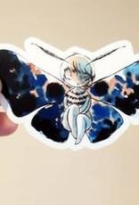 Stasia Burrington Sticker Moth Girl
