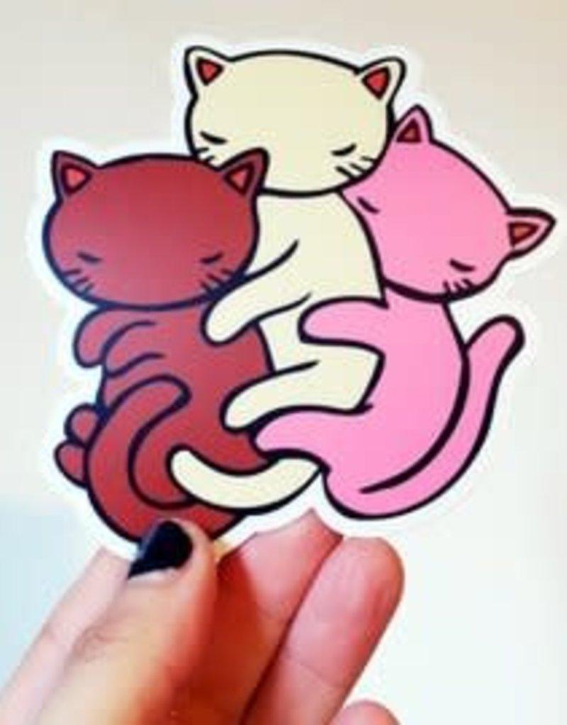 Stasia Burrington Sticker Neapolitan Cats