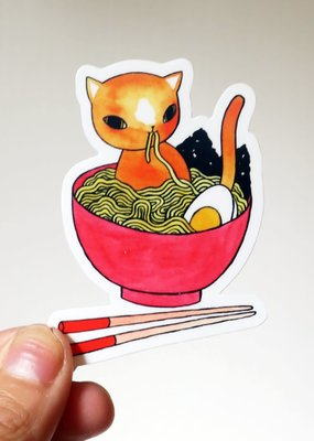 Stasia Burrington Sticker Ramen Cat