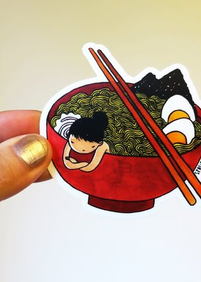Stasia Burrington Sticker Ramen Girl