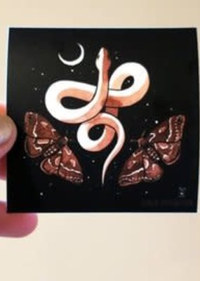 Stasia Burrington Sticker Snake Moon Moths