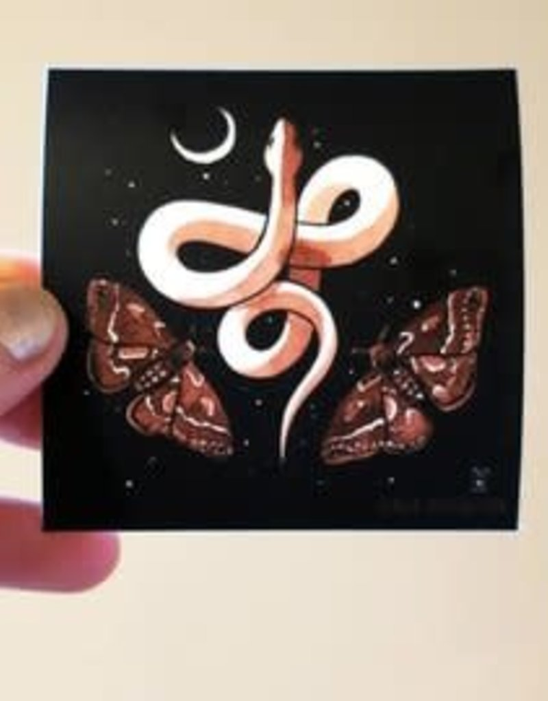 Stasia Burrington Sticker Snake Moon Moths