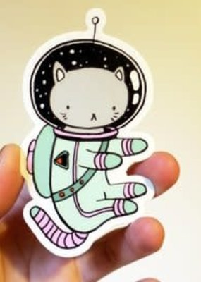 Stasia Burrington Sticker Space Cat