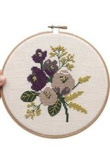 Junebug and Darlin Cross Stitch Kit Amethyst Floral