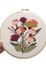 Junebug and Darlin Cross Stitch Kit Coral Floral