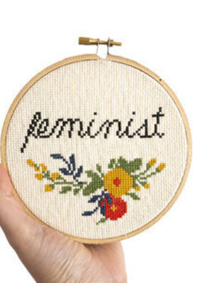 Junebug and Darlin Cross Stitch Kit Feminist