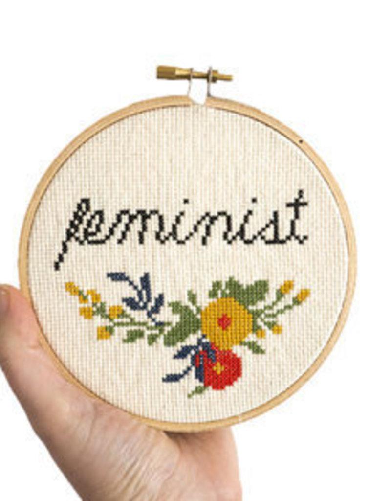 Junebug and Darlin Cross Stitch Kit Feminist