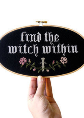 Junebug and Darlin Cross Stitch Kit Find The Witch Within