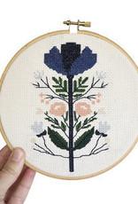 Junebug and Darlin Cross Stitch Kit Midnight Floral