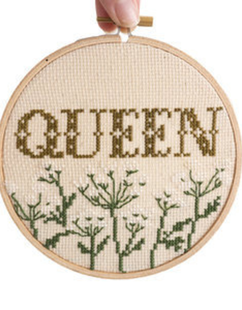 Junebug and Darlin Cross Stitch Kit Queen Cream