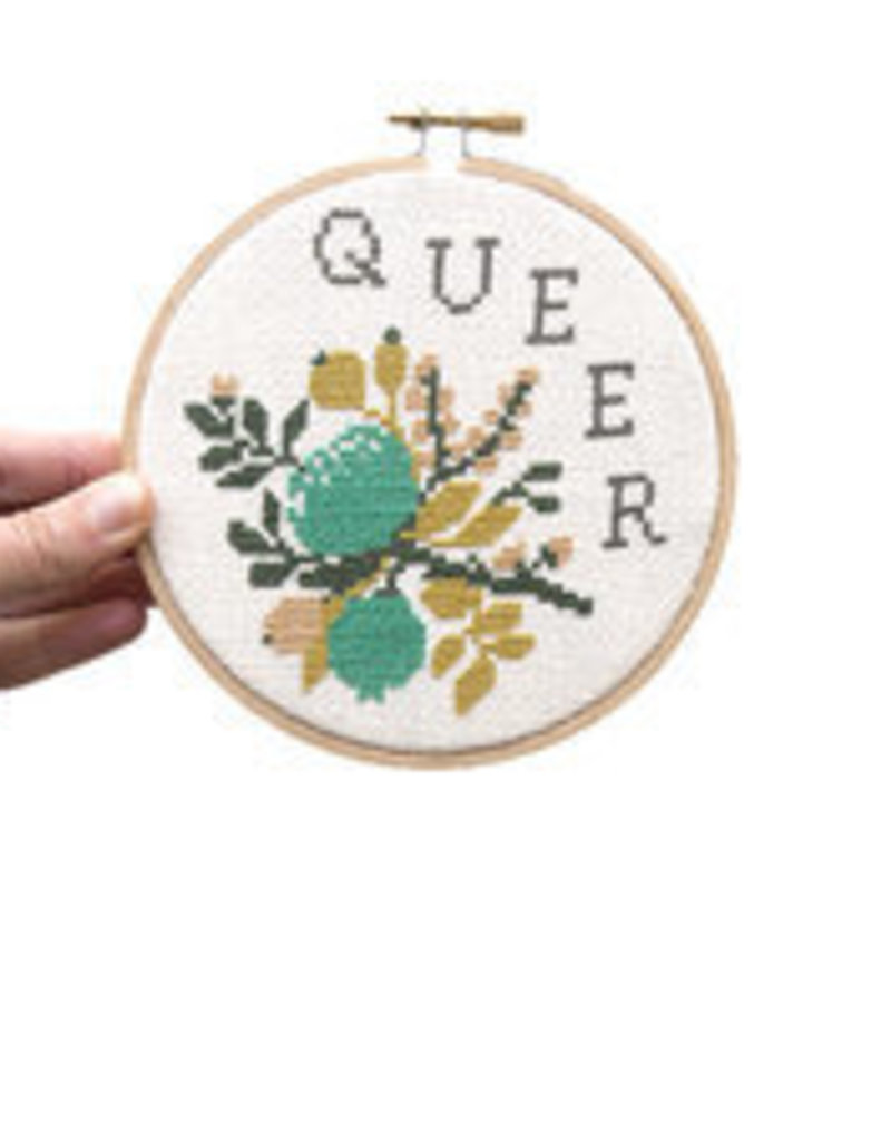 Junebug and Darlin Cross Stitch Kit Queer