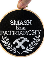 Junebug and Darlin Cross Stitch Kit Smash the Patriarchy