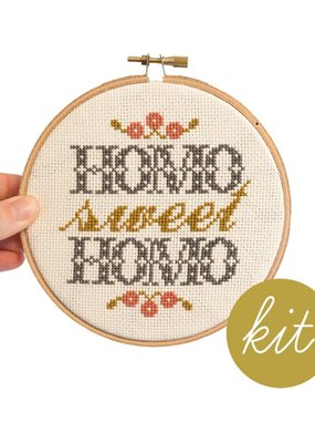 Junebug and Darlin Cross Stitch Kit Homo Sweet Homo Foyer