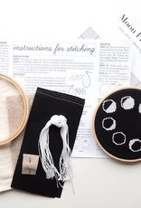 Junebug and Darlin Cross Stitch Kit Moon Phases Black