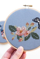 Junebug and Darlin Cross Stitch Kit Wild Rose and Moth