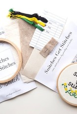 Junebug and Darlin Cross Stitch Kit Snitches Get Stitches