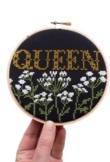 Junebug and Darlin Cross Stitch Kit Queen Black