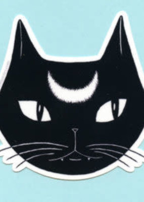 Bee's Knees Sticker Black Lunar Cat