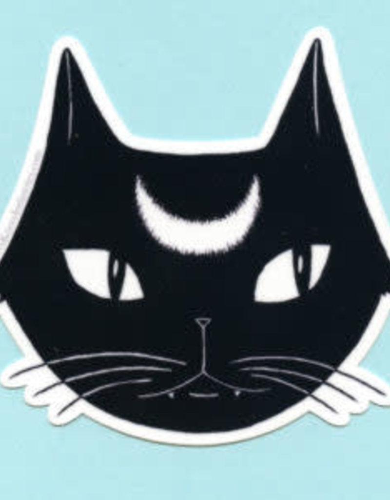 Bee's Knees Sticker Black Lunar Cat