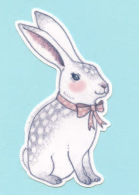 Bee's Knees Sticker Bowtie Bunny