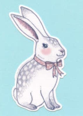 Bee's Knees Sticker Bowtie Bunny