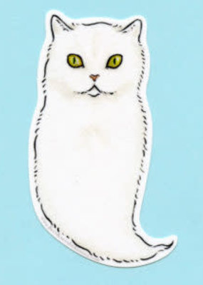 Bee's Knees Sticker Ghost Cat