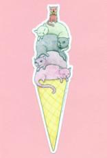 Bee's Knees Sticker Ice Cream Cats