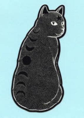 Bee's Knees Sticker Moon Phase Cat