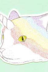 Bee's Knees Sticker Rainbow Caticorn