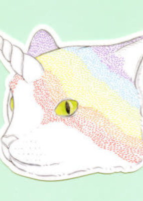 Bee's Knees Sticker Rainbow Caticorn