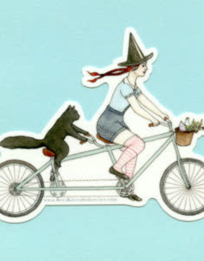 Bee's Knees Sticker Tandem Witch