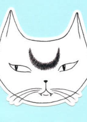 Bee's Knees Sticker White Lunar Cat