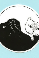 Bee's Knees Sticker Yin Yang Cats