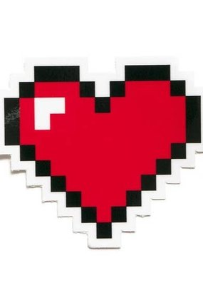 Smarty Pants Paper Sticker Pixel Heart
