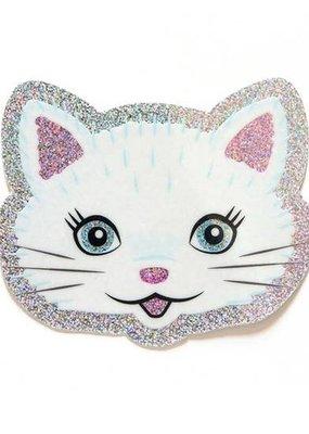 Smarty Pants Paper Sticker Glitter Cat