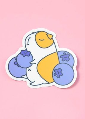 Noristudio Vinyl Sticker Guinea Pig And Blueberries