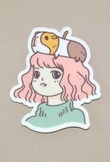 Noristudio Vinyl Sticker Guinea Pig Lady