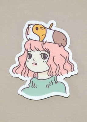 Noristudio Vinyl Sticker Guinea Pig Lady