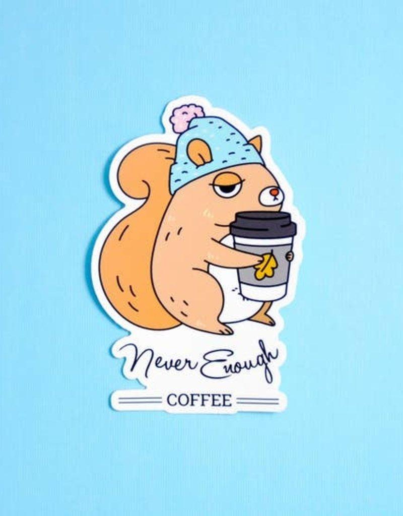 Noristudio Vinyl Sticker Never Enough Coffee Squirrel