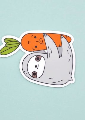 Noristudio Vinyl Sticker Sloth And Carrot