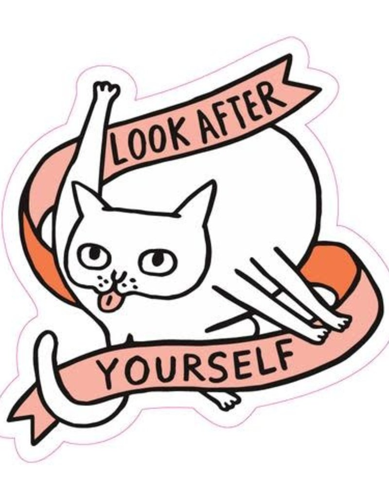 Sticker Look After Yourself Cat