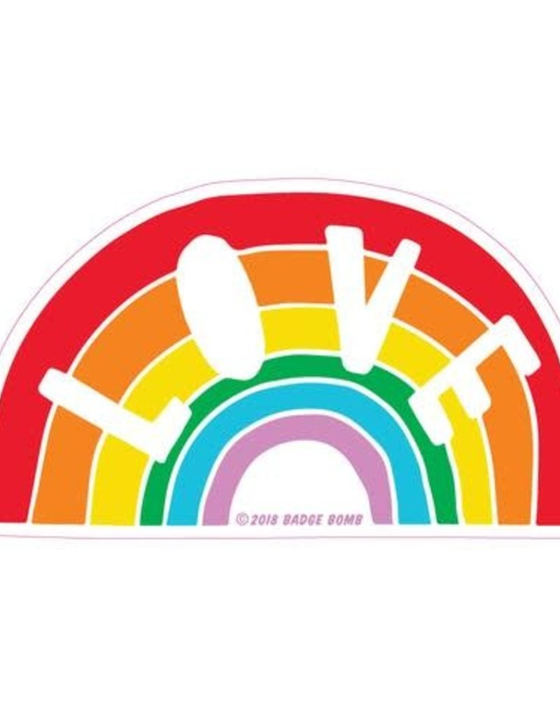 Sticker Love Rainbow