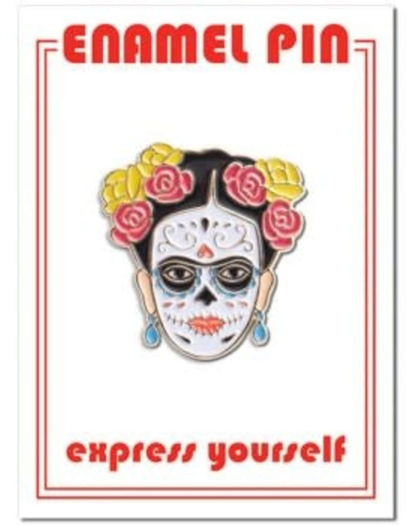 The Found Enamel Pin Frida Sugar Skull