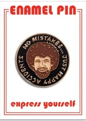 The Found Enamel Pin Bob Ross Happy Accidents