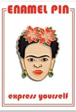 The Found Enamel Pin Frida Red Floral