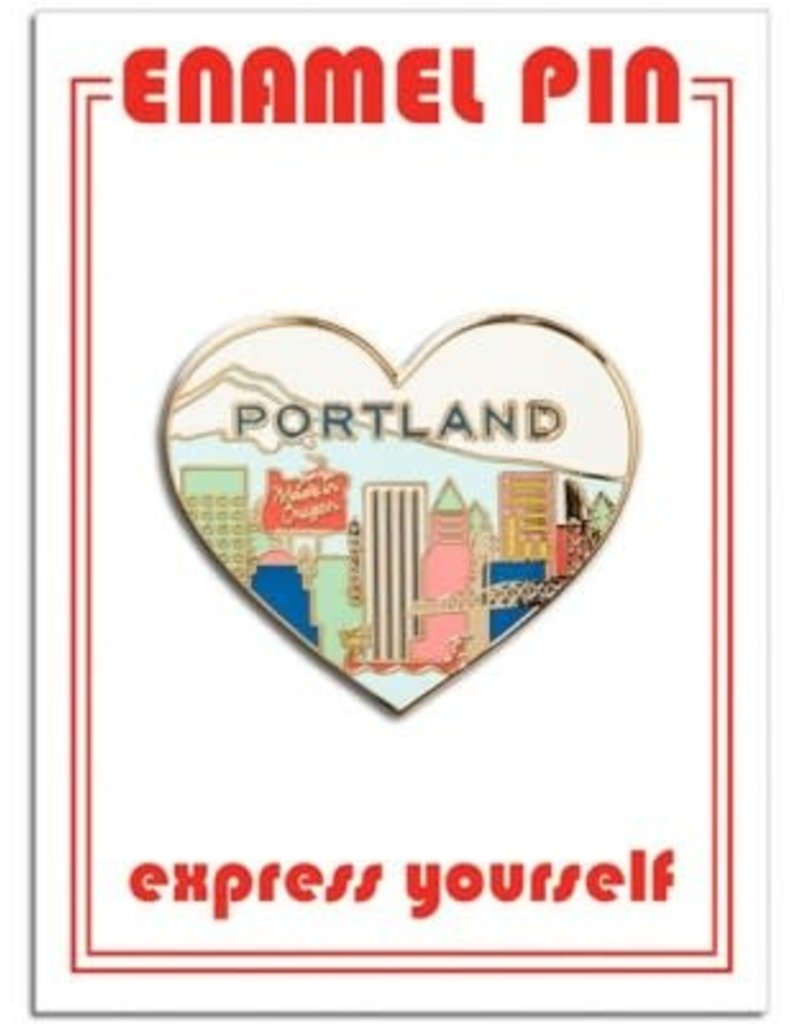 The Found Enamel Pin Portland Skyline Heart