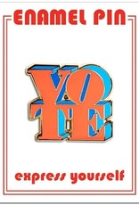 The Found Enamel Pin Vote Red/Blue