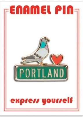 The Found Enamel Pin Portland Pigeon