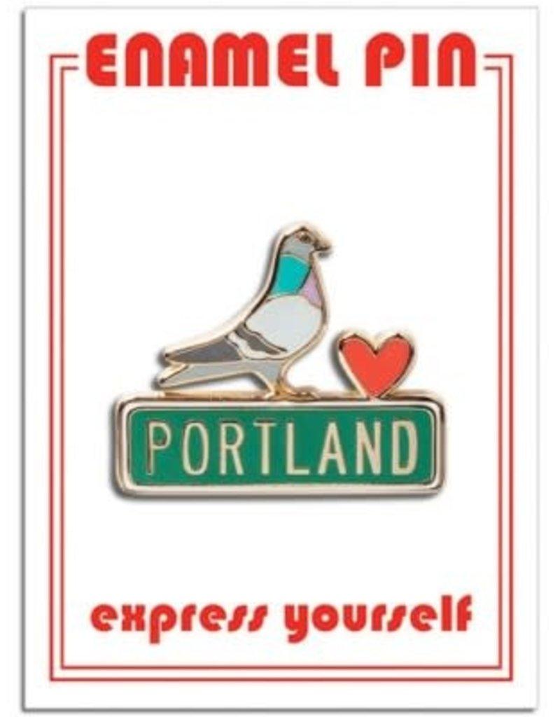 The Found Enamel Pin Portland Pigeon