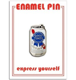 The Found Enamel Pin Beer Can Good Times